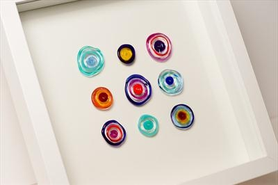 Bright 9 Disc Glass Wall Art