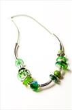 Green and silver by pinkcostello, Jewellery