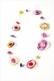 Multi colour disc necklace by pinkcostello, Jewellery